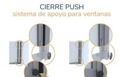 Cierre PUSH, un sistema de apoyo para apertura de ventanas correderas